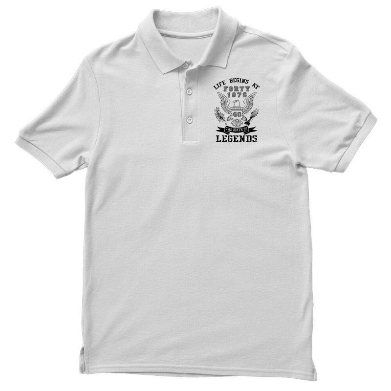 Life Begins At Forty 1976 The Birth Of Legends Men's Polo Shirt | Artistshot