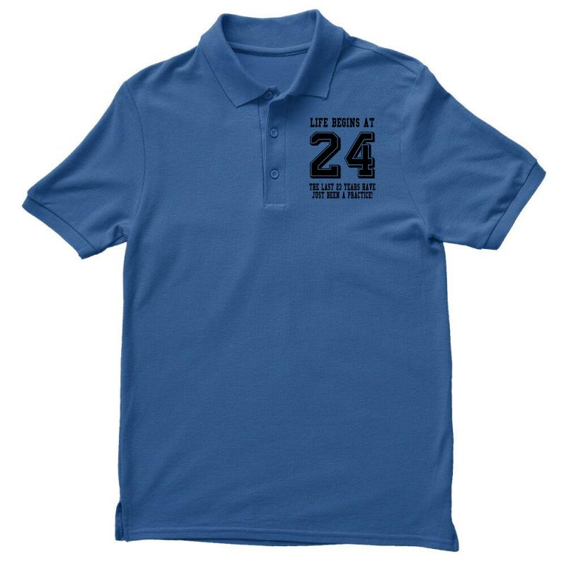 24th Birthday Life Begins At 24 Men's Polo Shirt | Artistshot
