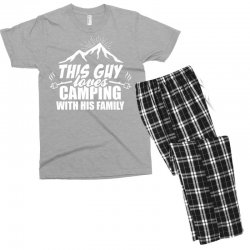 This Guy Loves Camping With His Family Men's T-shirt Pajama Set | Artistshot
