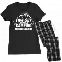 This Guy Loves Camping With His Family Women's Pajamas Set | Artistshot