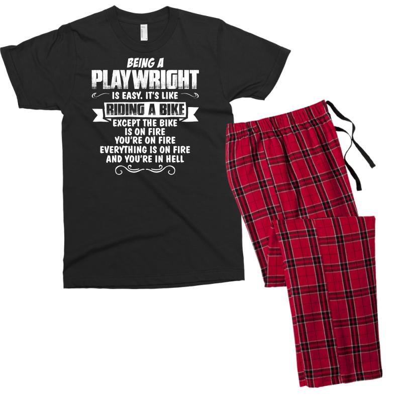 Being A Playwright Men's T-shirt Pajama Set | Artistshot