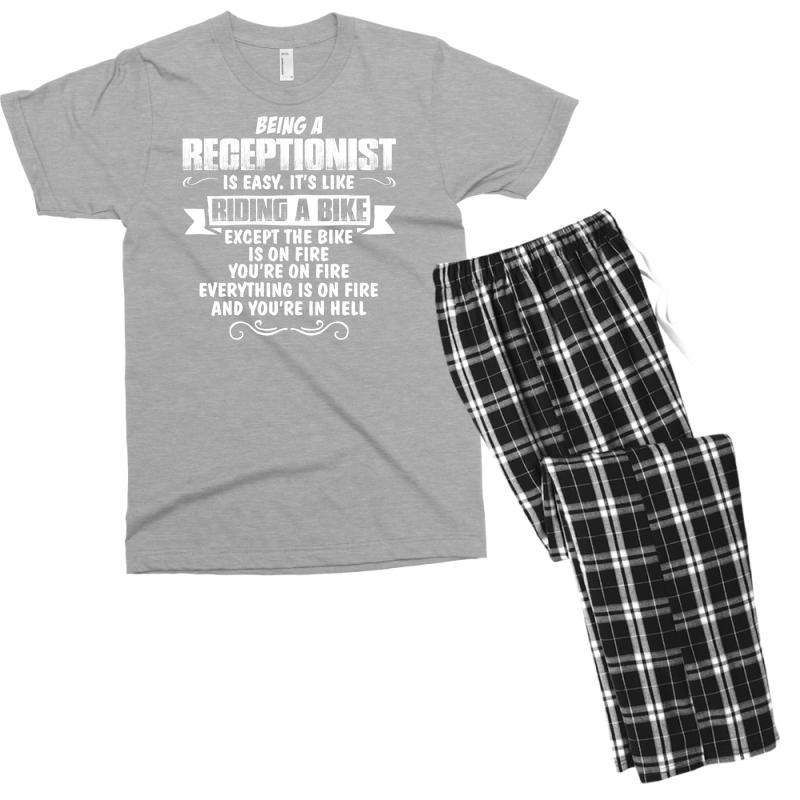 Being A Receptionist Men's T-shirt Pajama Set | Artistshot
