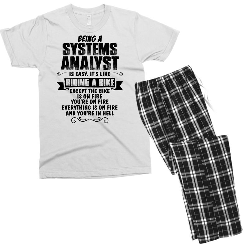 Being A Systems Analyst Copy Men's T-shirt Pajama Set | Artistshot