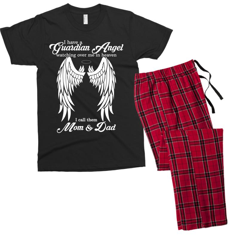 9a7f8d7e i have a guardian angel in heaven i call her dad Men's T-shirt Pajama Set