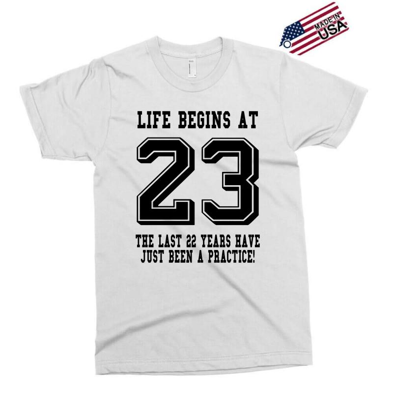 23rd Birthday Life Begins At 23 Exclusive T-shirt | Artistshot