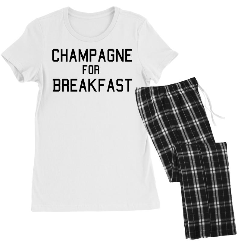 5f5b19ad78 Custom Champagne For Breakfast Women's Pajamas Set By Killakam ...