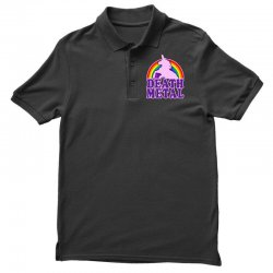 funny death metal unicorn rainbow Polo Shirt | Artistshot