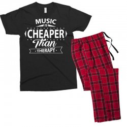 Music Is Cheaper Than Therapy Men's T-shirt Pajama Set | Artistshot