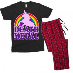 funny death metal unicorn rainbow Men's T-shirt Pajama Set | Artistshot