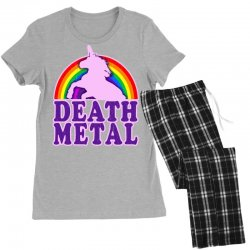 funny death metal unicorn rainbow Women's Pajamas Set | Artistshot