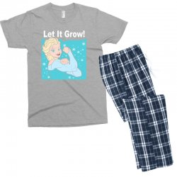 funny gym elsa let it grow frozen fitness Men's T-shirt Pajama Set | Artistshot
