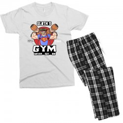 funny gym sloth the goonies fitness t shirt vectorized Men's T-shirt Pajama Set | Artistshot