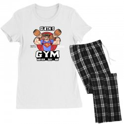 funny gym sloth the goonies fitness t shirt vectorized Women's Pajamas Set | Artistshot