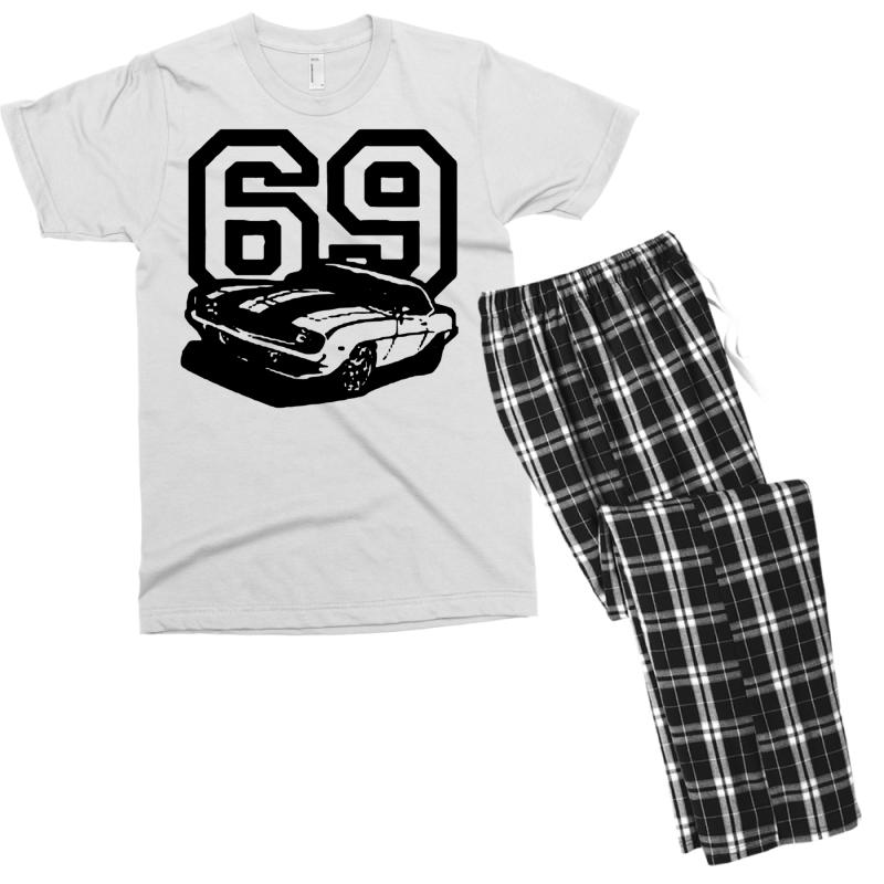 969a0534d Custom 1969 69 Classic Retro Vintage Muscle Car Men's T-shirt Pajama ...