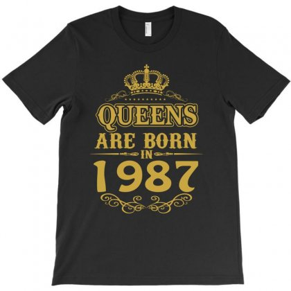 Queens Are Born In 1987 T-shirt Designed By Dang Minh Hai
