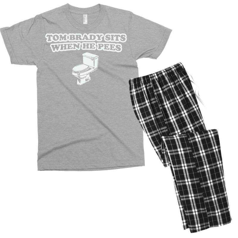 9b63bb4f Indianapolis Colts T Shirt Tom Brady Sits When He Pees Funny Jersey Andrew  Luck Men's T-shirt Pajama Set. By Artistshot