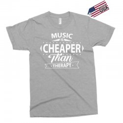 Music Is Cheaper Than Therapy Exclusive T-shirt | Artistshot