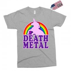 funny death metal unicorn rainbow Exclusive T-shirt | Artistshot