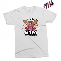 funny gym sloth the goonies fitness t shirt vectorized Exclusive T-shirt | Artistshot