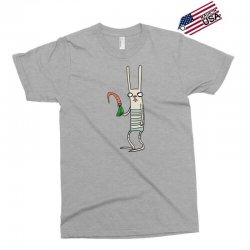 funny rabbit bunny holding a carrot Exclusive T-shirt | Artistshot