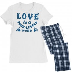 love is a four legged word Women's Pajamas Set | Artistshot