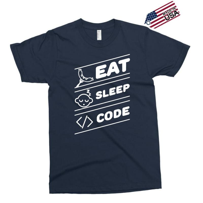 4c59a781e eat sleep code funny computer science programming coding Exclusive T-shirt