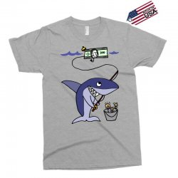 funny shark fishing for humans Exclusive T-shirt | Artistshot