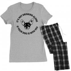 funny drinking dog Women's Pajamas Set | Artistshot