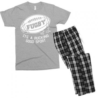 Fugby It's A Rucking Good Game Men's T-shirt Pajama Set Designed By Gematees