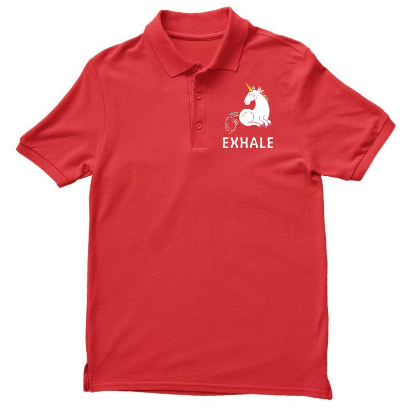 Exhale Unicorn Men's Polo Shirt | Artistshot
