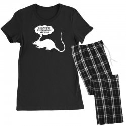 rat funny geek nerd scientific experiments are fun Women's Pajamas Set | Artistshot