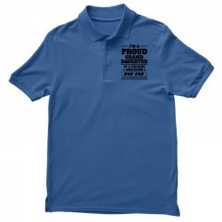 Proud Granddaughter Of A Freaking Awesome Pop Pop Men's Polo Shirt | Artistshot