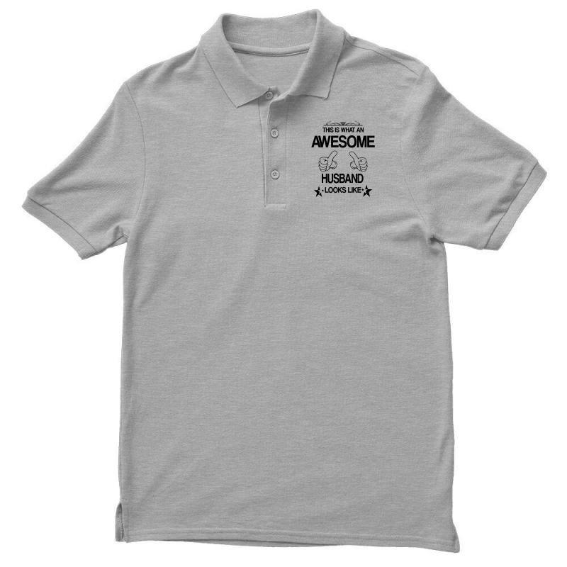 This Is What An Awesome Husband Looks Like Men's Polo Shirt | Artistshot