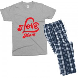 I love mom Men's T-shirt Pajama Set | Artistshot