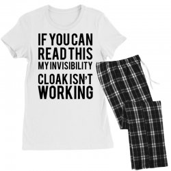 the magic t shirt invisible cloak humor top dope hipster geek indie funny gift Women's Pajamas Set | Artistshot