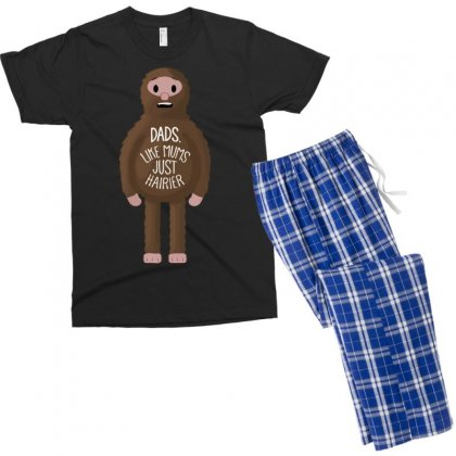 Dads Like Mums But Hairier Men's T-shirt Pajama Set Designed By Gematees