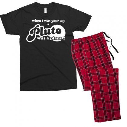 Pluto Was A Planet! Men's T-shirt Pajama Set Designed By Gematees