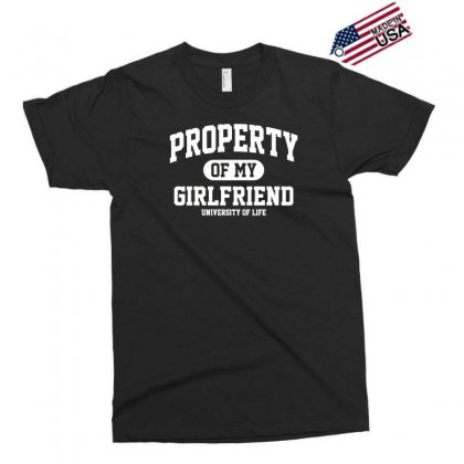 Property Of My Girlfriend Funny Exclusive T-shirt Designed By Gematees