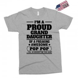 Proud Granddaughter Of A Freaking Awesome Pop Pop Exclusive T-shirt | Artistshot