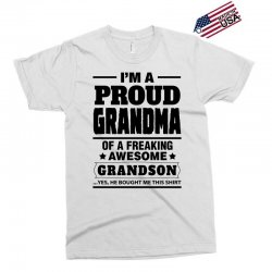 Proud Grandma Of A Freaking Awesome Grandson Exclusive T-shirt | Artistshot