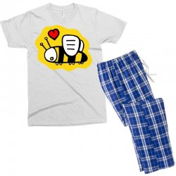 love bee lover valentine Men's T-shirt Pajama Set | Artistshot
