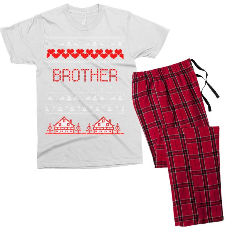 1ce3cf77f6 Custom Brother Ugly Christmas Sweater Men s T-shirt Pajama Set By ...
