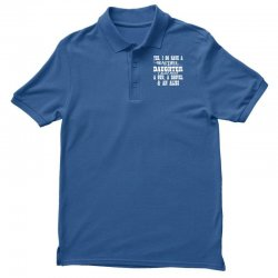 yes i do have a beautiful daughter a gun shovel funny Polo Shirt   Artistshot