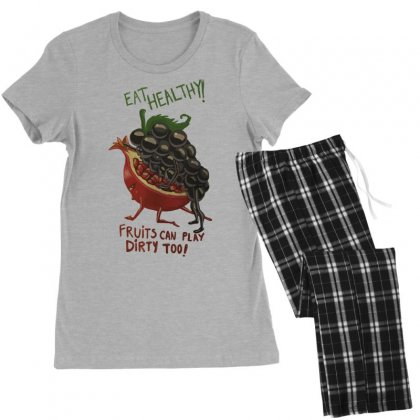Eat Fruits Women's Pajamas Set Designed By Tonyhaddearts