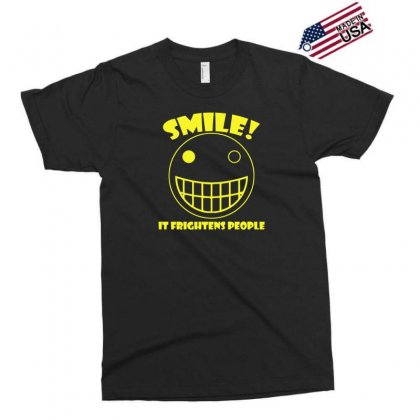 Smile, It Frightens People Exclusive T-shirt Designed By Gematees