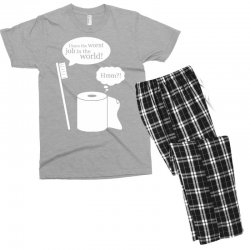 i have the worst job in the world! Men's T-shirt Pajama Set | Artistshot