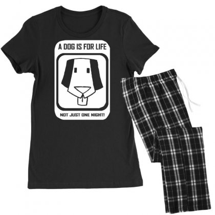 A Dog Is For Life Women's Pajamas Set Designed By Tonyhaddearts