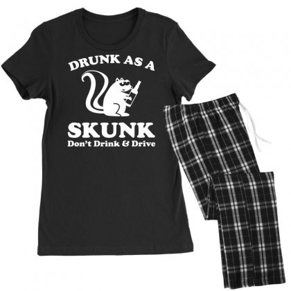 Drunk As A Skunk Women's Pajamas Set Designed By Tonyhaddearts