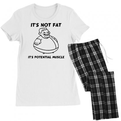 It's Not Fat, It's Potential Muscle Women's Pajamas Set Designed By Tonyhaddearts