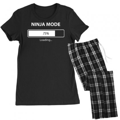 Ninja Mode Loading Women's Pajamas Set Designed By Tonyhaddearts